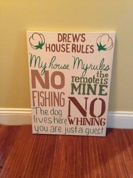 House Rules Canvas