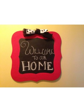 Scalloped Chalkboard Hanger